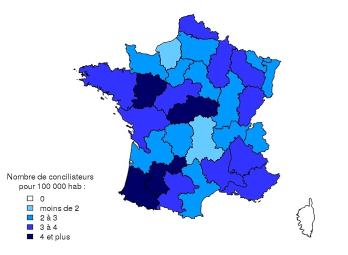 statisques nationales 2015 carte des conciliateurs